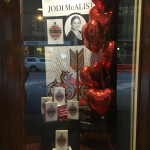 Jodi front window of Dymocks George St