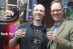 Alan and Garth at launch